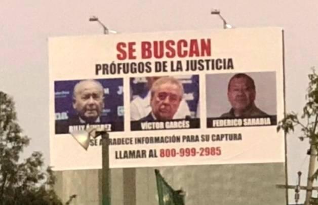 Exhiben foto de Billy Álvarez en avenida de la CDMX como prófugo de la justicia