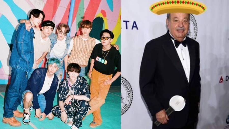 Mexicanos suplican a Carlos Slim que traiga al grupo BTS a México