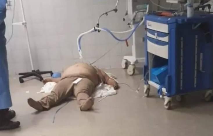 Secretaría de Salud capitalina explica muerte de un hombre en el piso de un hospital