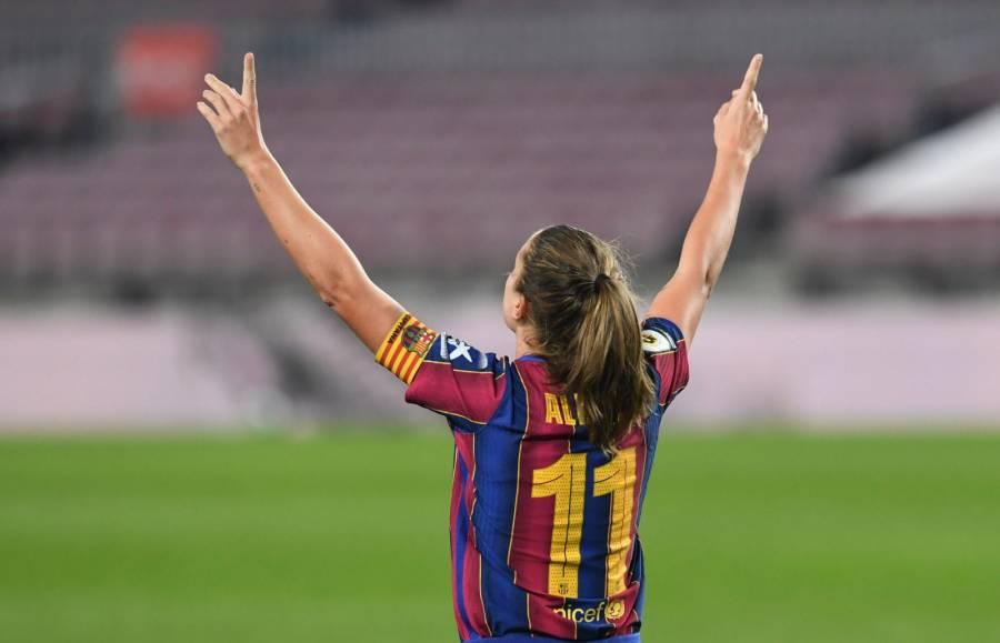 ¡Anotación histórica! Alexia Putellas marca el primer gol del Barcelona femenil en el Camp Nou