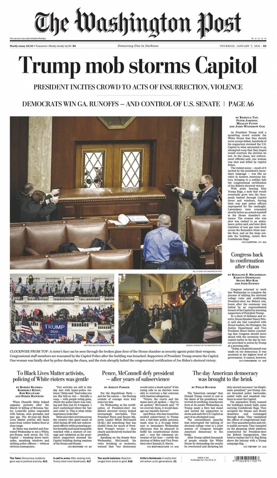 Pide Washington Post destitución de Donald Trump