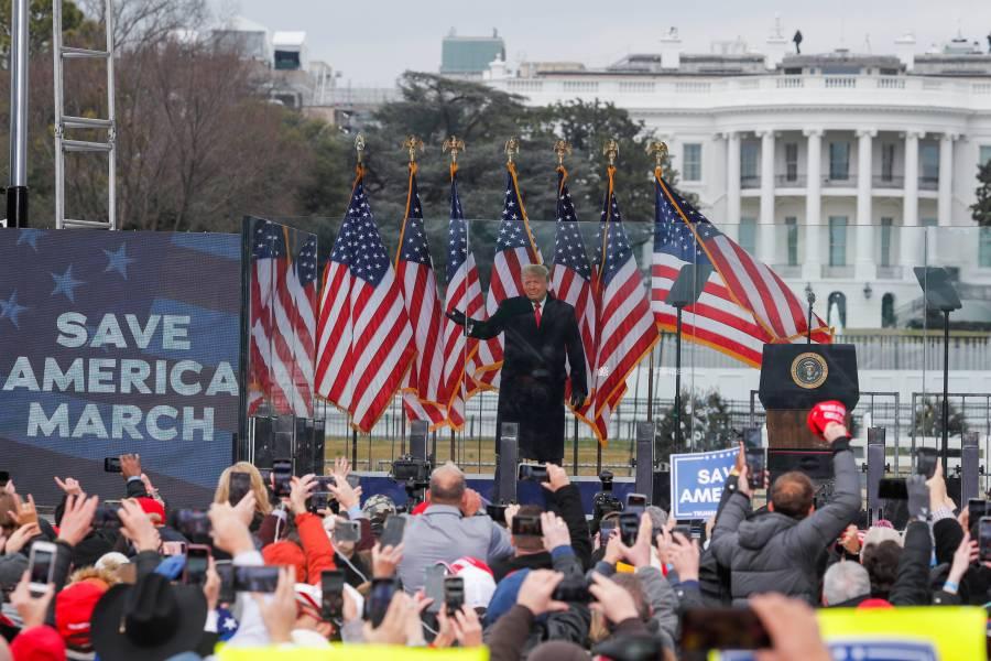 """""""Nunca aceptaremos la derrota"""":  Trump a sus partidarios"""