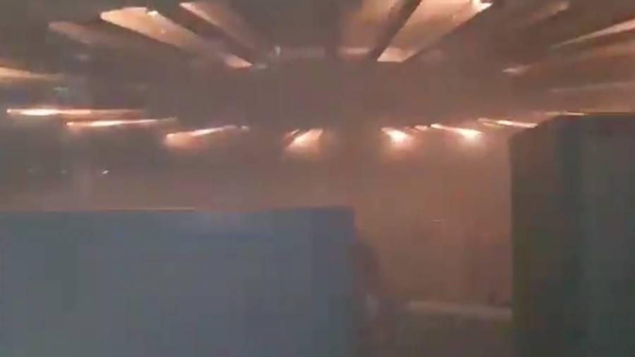 Video: Así fue el momento en que trabajadores del Metro se percataron del incendio