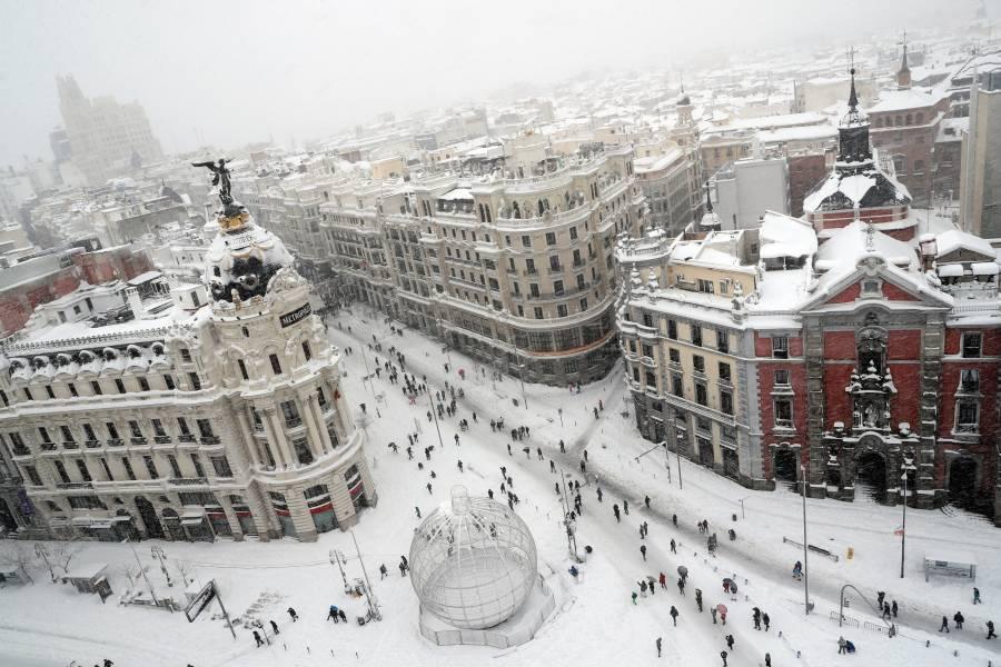 Madrid padece la mayor nevada de su historia desde la década de los 70