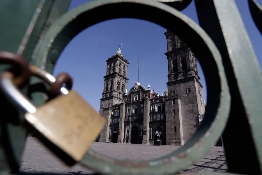 Iglesias y templos católicos de puebla se mantendrán cerrados