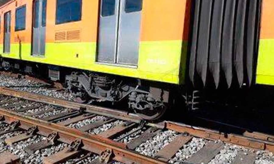 Descarrila tren de la Línea A del Metro en estación La Paz