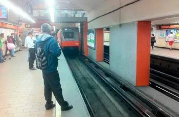 Registran conato de incendio en tren del Metro con dirección Barranca del Muerto, Línea 7