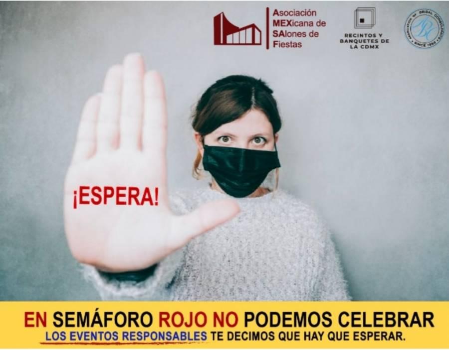 SEDECO y sector de banquetes y fiestas, lanzan campaña para reducir reuniones en la CDMX