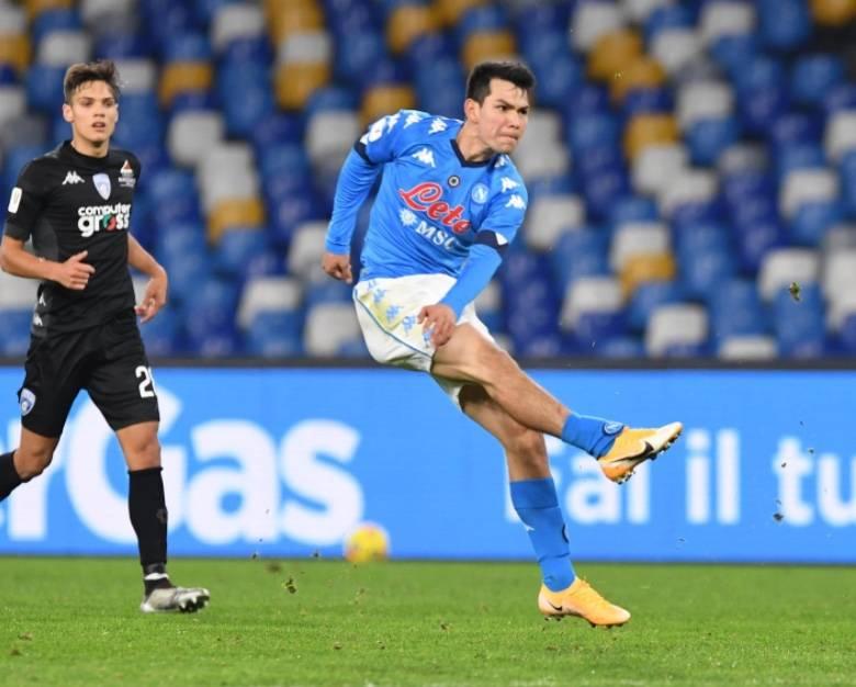 """""""Chucky"""" brilla en la victoria del Napoli sobre el Empoli en la Copa Italia"""