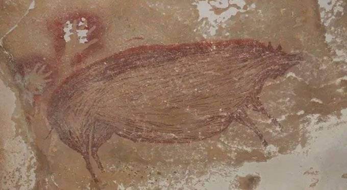 En Indonesia hallan una de las pinturas rupestres más antiguas del mundo