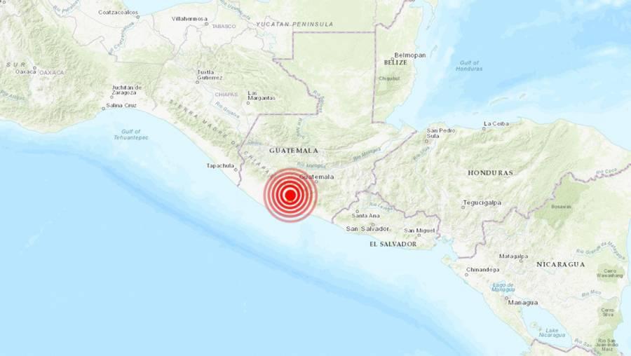 Sismo sacude a Guatemala