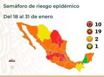 Campeche se mantiene en Semáforo Verde; 10 entidades en rojo