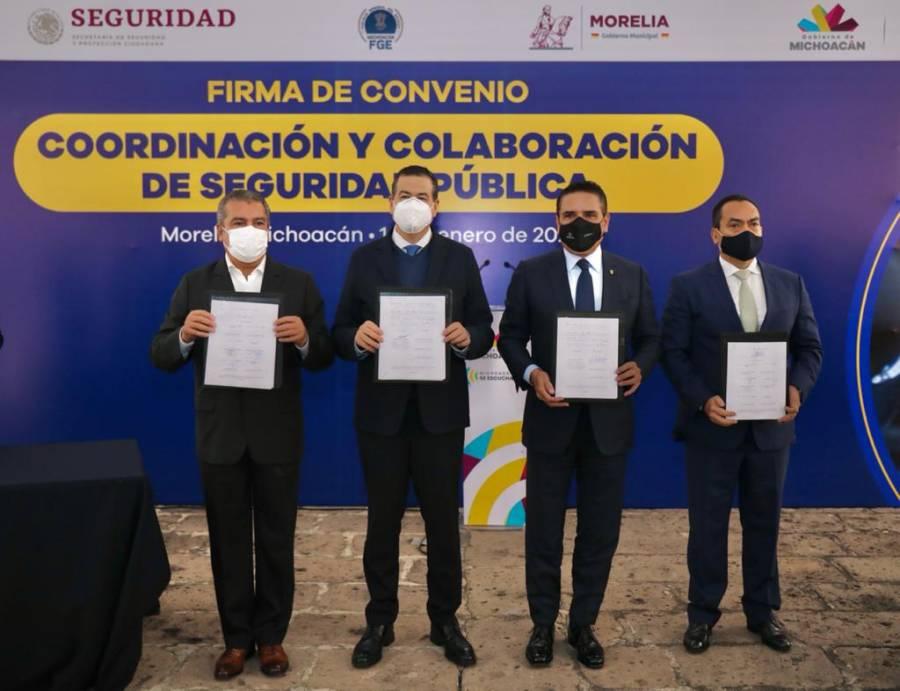 Autoridades de Michoacán y SSPC firman convenio de colaboración