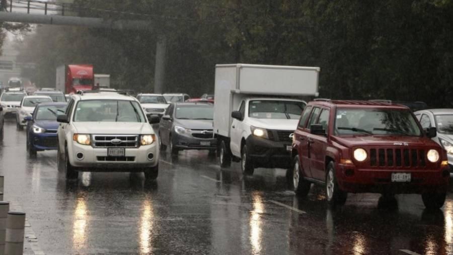 Se registran lluvias en gran parte de la CDMX