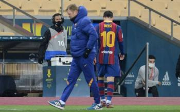 Lionel Messi es expulsado ante el Athletic de Bilbao