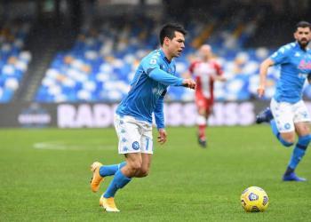 """""""Chucky"""" Lozano anota en la goleada del Napoli contra la Fiorentina"""