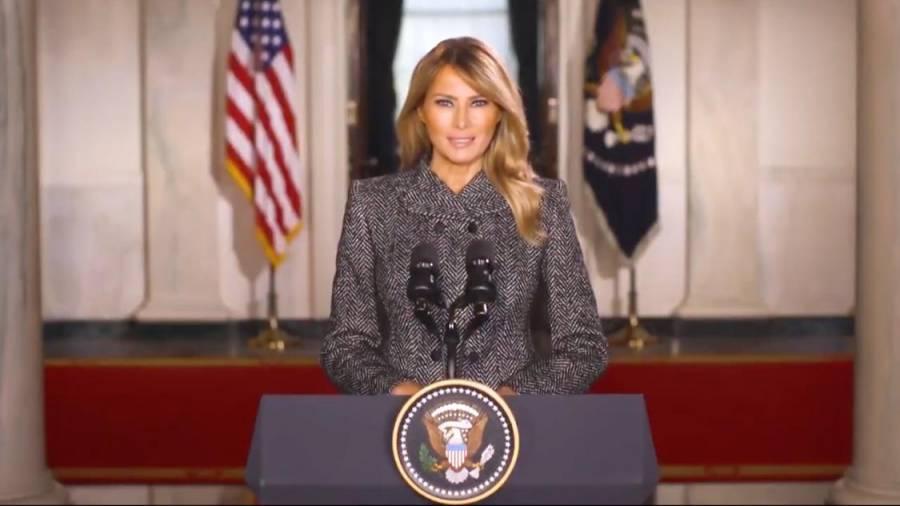 Se despide la primera dama de EEUU, Melania Trump