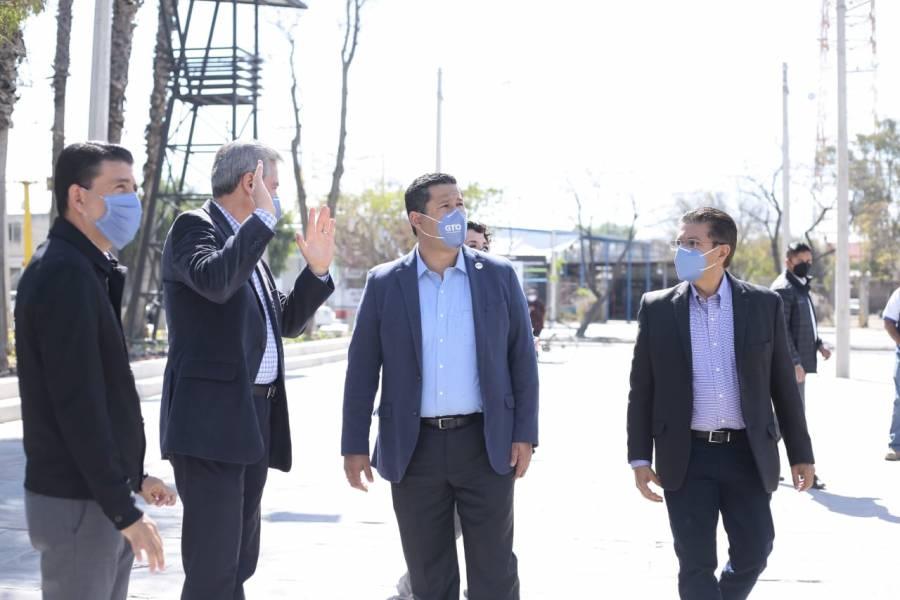 Autoridades de Guanajuato entregan II etapa del Parque Juárez