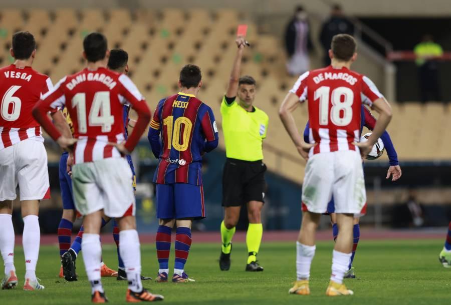 Barcelona alegará expulsión de Messi en la Supercopa de España