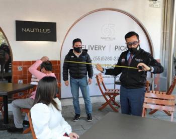 Supervisa alcalde en Miguel Hidalgo apertura de restaurantes