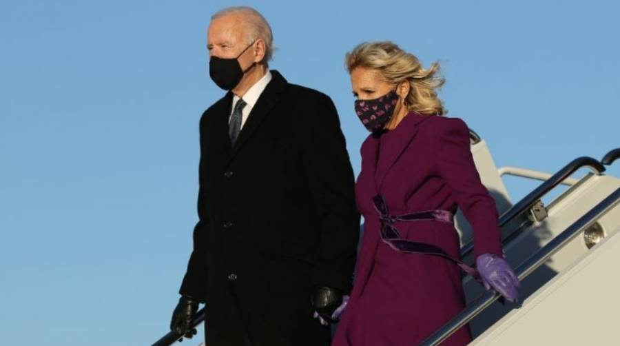Joe Biden llega a Washington D.C.