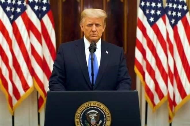 Trump desea suerte a la nueva administración, en su mensaje de despedida