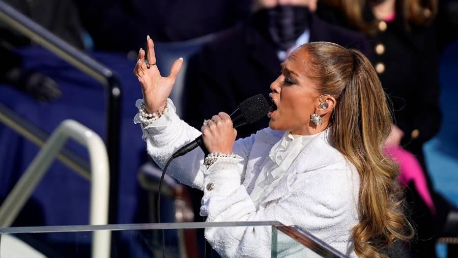 El mensaje en español de Jennifer Lopez durante la investidura de Joe Biden