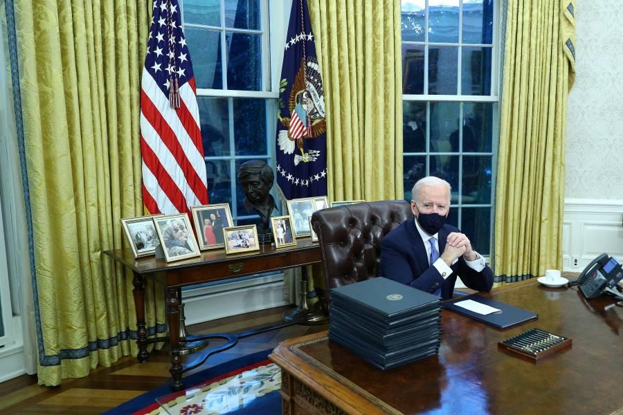 Joe Biden personaliza el Despacho Oval de la Casa Blanca