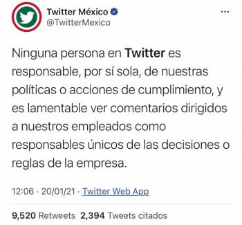 Y Twitter se defendió