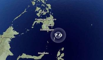 Descartan riesgo de tsunami tras sismo de magnitud 7 cerca de Filipinas