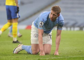 Kevin De Bruyne será baja en Manchester City hasta seis semanas por lesión