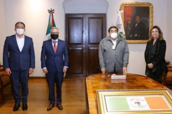 Miguel Barbosa afina detalles del traslado de la SEP a Puebla, ordenado por AMLO