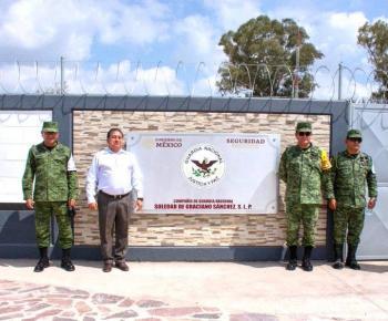 Ante visita de AMLO a Municipio de Soledad, alcalde supervisa cuartel de la Guardia Nacional