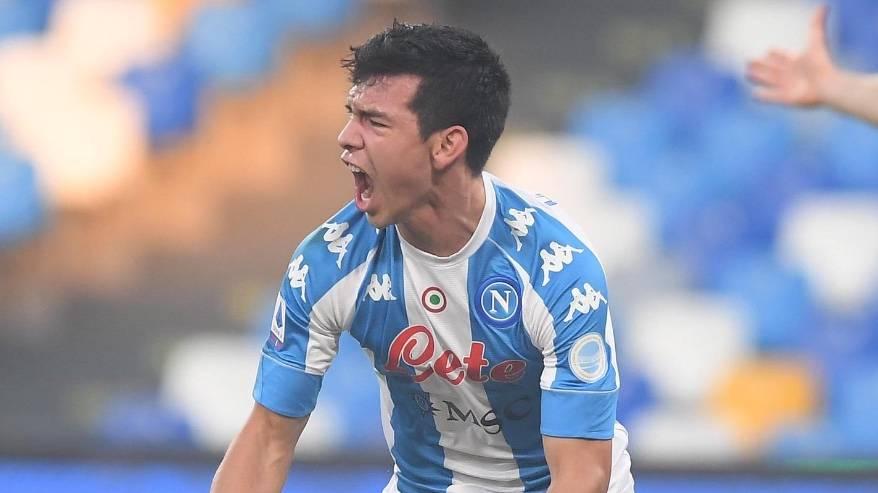 """""""Chucky"""" Lozano marca el gol más rápido en la historia del Napoli"""