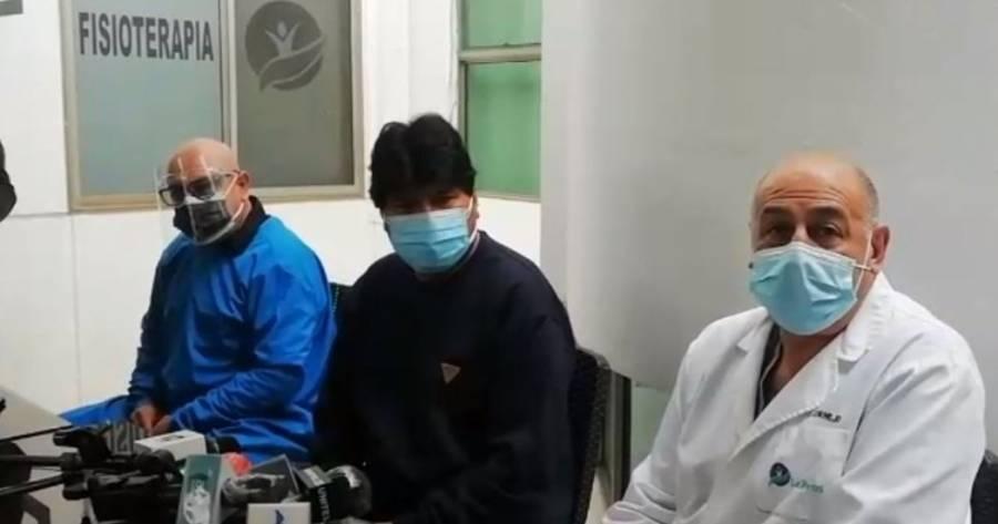 Dan de alta a Evo Morales luego de estar internado por Covid