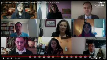 Consejero del IECM, Ernesto Ramos Mega, participa en el E-Conversatorio sobre educación