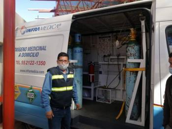 Recargan gratuitamente tanques de oxígeno para personas con Covid-19, en Milpa Alta