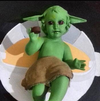 Previo al Día de la Candelaria, artista mexicano crea al Niño Dios Baby Yoda