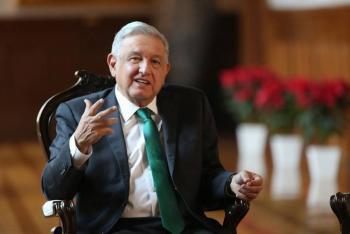 """""""Bien, fuerte y optimista AMLO pese a COVID-19"""": Sánchez Cordero"""