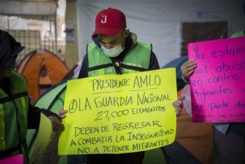 Piden ONG's quitar cerco militar en la frontera sur