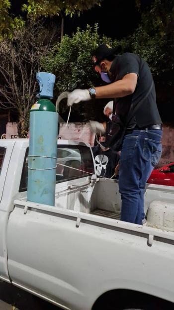 Inicia Xochimilco entrega de tanques de oxígeno para enfermos Covid-19