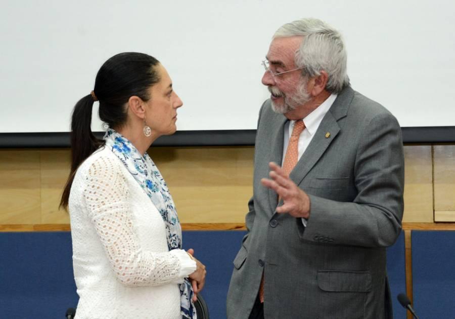 Cuestiona Sheinbaum a rector de la UNAM