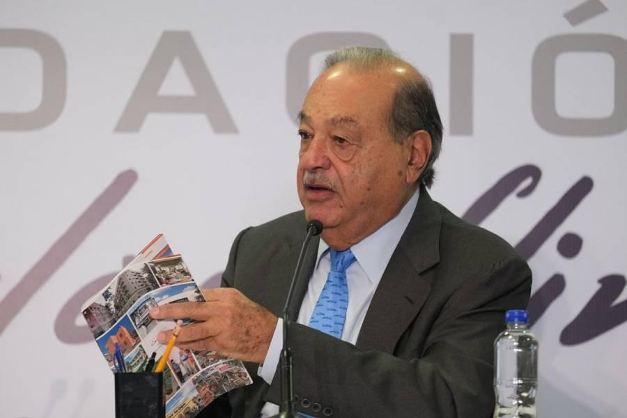 Carlos Slim recibe alta de hospital tras contraer COVID-19; se recupera en su casa