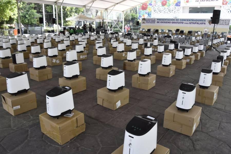 Iztapalapa pone 250 concentradores de oxígeno a disposición de pacientes COVID-19