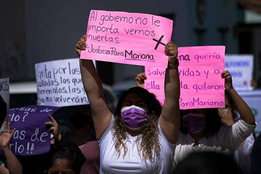 Protestan en Chiapas para exigir justicia tras feminicidio de Mariana