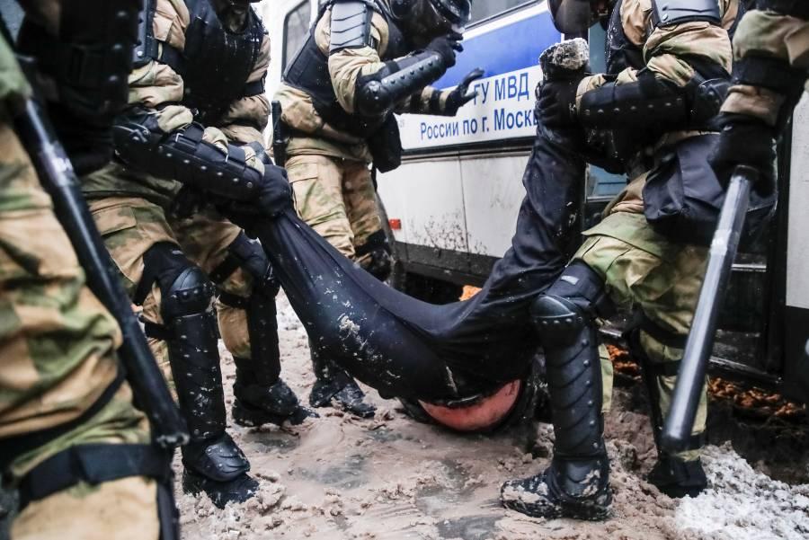 Más de 4 mil detenidos en  Rusia en protestas proNavalny
