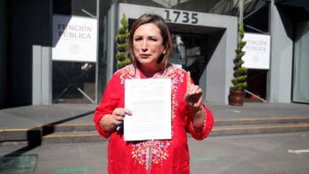 Xóchitl Gálvez presentó denuncia por presuntas compras irregulares