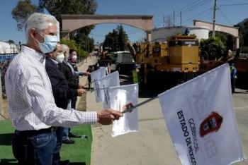 Dan banderazo a obras de rehabilitación de red carretera del sur del Edomex