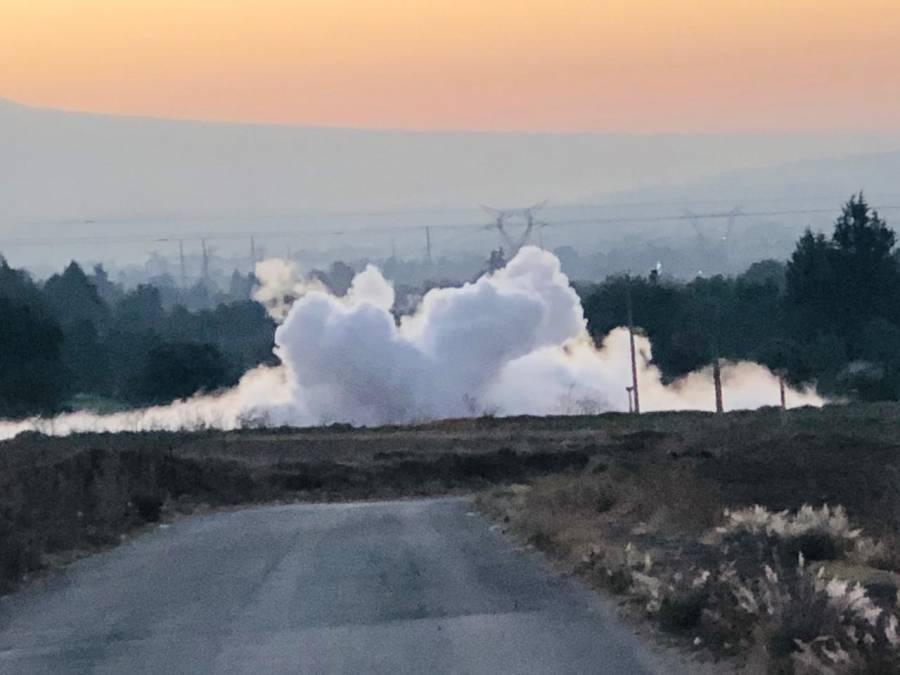 Desalojan a 300 personas por fuga de gas en Texmelucan, Puebla