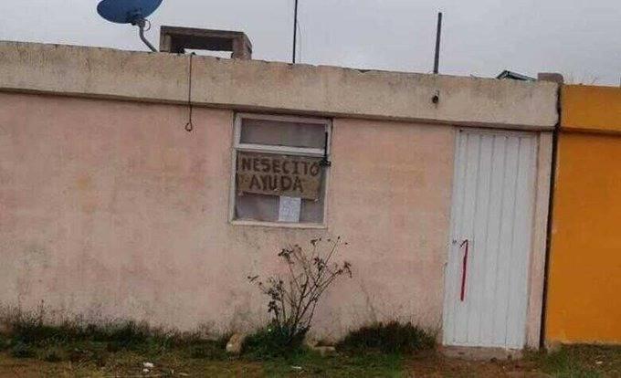 Letreros salvan a una familia poblana contagiada de Covid-19